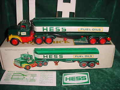 Rare 78 Holiday Collectible Hess Trucks 1978 Red Switch Toy Tanker Truck Toys