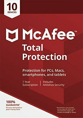 McAfee Total Protection 2019 10 User/PC/Devices Internet Security
