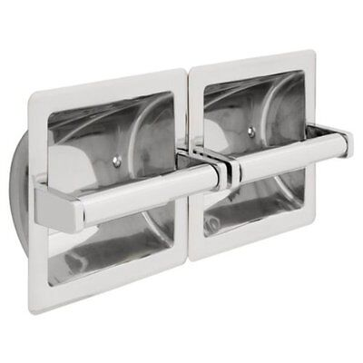 980C Franklin Brass Commercial Twin Toilet Paper Holder Chrome