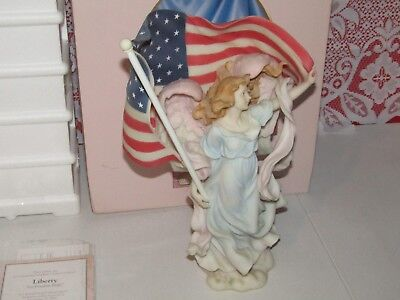 """Collectible Roman - Seraphim Classics """"Liberty"""" Angel """"Let Freedom Reign"""""""