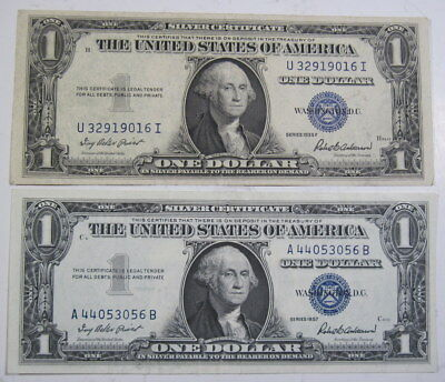 You get two: 1935 F and 1957 $1 silver certificate  (#1031c)