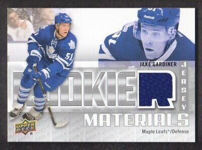 2011-12 Upper Deck Rookie Materials Jersey #RM-JG Jake Gardiner Maple Leafs