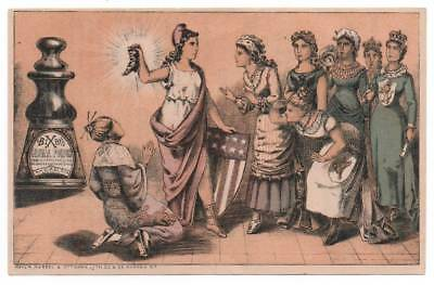 Bixby's Royal Polish trade card   Columbia promotes to multicultural women