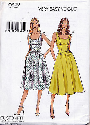Vogue Sewing Pattern 9100 Misses Sz 6-14 Custom Fit Dress With Princess Seams