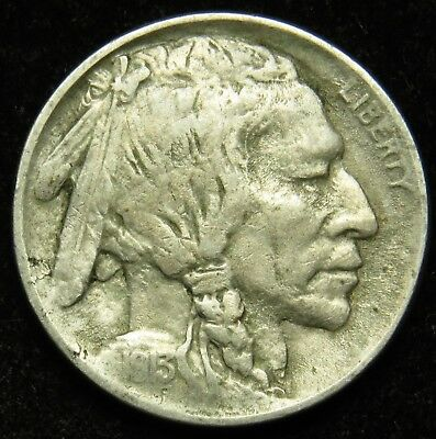 1913 Type 1 Buffalo Indian Head Nickel VF Very Fine (B06)