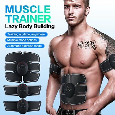 Abdomen Muscle Trainer Belt Gear Smart ABS Exercise Body Building Fitness EMS AU