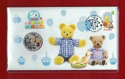 2016 Australia PNC 50 Years of Play School Big Ted and Little Ted 50c - Bargain!