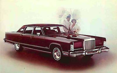 Advertising Postcard 1977 Lincoln Continental Town Car