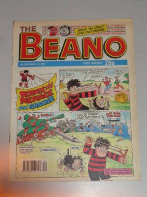 Beano #2592 21St March 1992 British Weekly Dennis The Menace