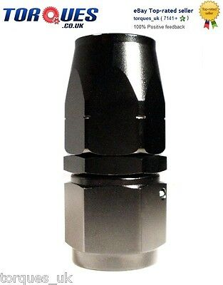 AN -16 (16AN JIC-16 ) STRAIGHT Swivel Seal Hose Fitting In Black