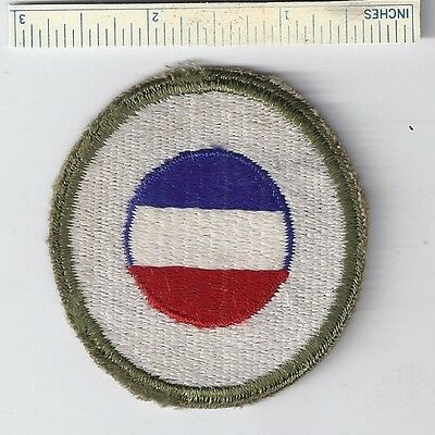 Original WW2 Patch - GROUND HQ RESERVE - WWII Shoulder Military H.Q. USA US Army