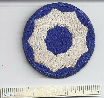 Original WW2 Patch 9th NINTH SERVICE COMMAND WWII Shoulder USA Military US Army
