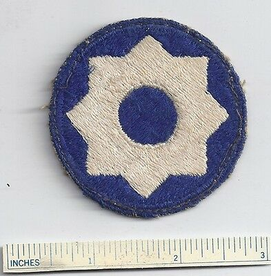 Original WW2 Patch 8th EIGHTH SERVICE COMMAND WWII Shoulder USA Military US Army