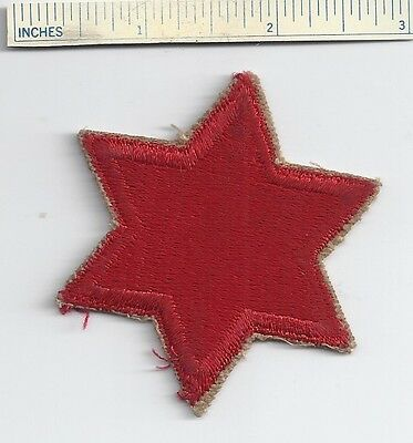Original WW2 Patch - 6th INFANTRY DIVISION - WWII Shoulder US Army 6 Military