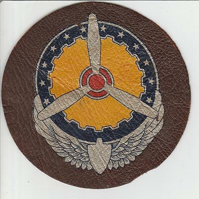 """CBI WW 2 US Army Air Forces Service Command 5"""" Leather Patch Inv# S497"""