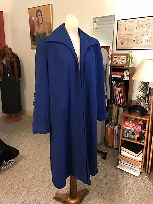 Vtg. 1930/40's Hollywood Swing Coat w/Button Details M