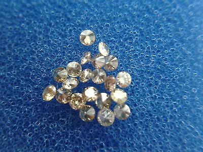 0,104 cts total lot x 10 Fancy champagne loose round diamonds SI1 1,30mm-1,40mm