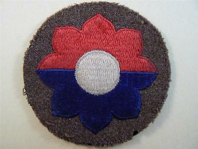 Off Uniform WW 2 US Army 9th Infantry Division Wool Patch Inv# SV440