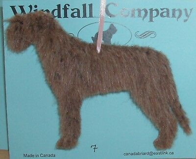 Red Brindle Irish Wolfhound Dog Soft Plush Christmas Canine Ornament # 7 by WC