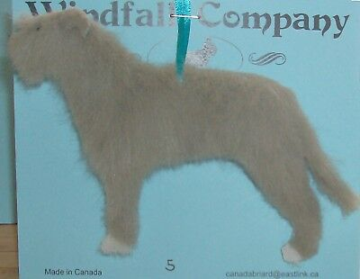 Grey White Irish Wolfhound Dog Soft Plush Christmas Canine Ornament # 9 by WC