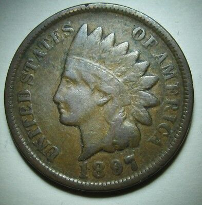 1897 Indian Head Cent in Average Circulated Condition    DUTCH AUCTION