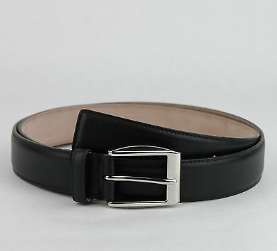 693b1c1605e  465 New Gucci Men s Black Leather Belt With Silver Buckle 120 48 336831  1000