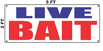 Live Bait Banner Sign Fishing Lure shiners Signs Shrimp