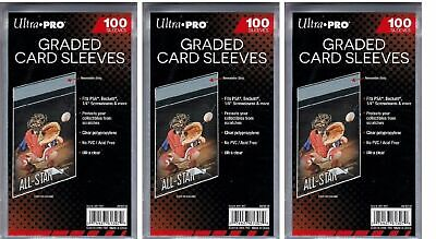 300 Ultra Pro Graded Card Sleeves Resealable  Bags Strip  New Acid Free No PVC