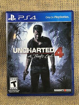 PS4 Uncharted 4 A Thief's End Play Station Video Game