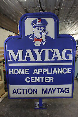 """MAYTAG Home Appliance Center Lighted Sign 98"""" Tall LOCAL PICK-UP"""