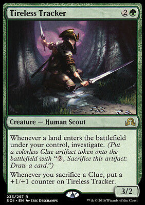 TIRELESS TRACKER NM mtg Shadows Over Innistrad Green - Human Scout Rare