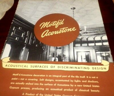 VINTAGE  MOTIF'D ACOUSTONE CATALOG  For Surfaces of Discrminating Design