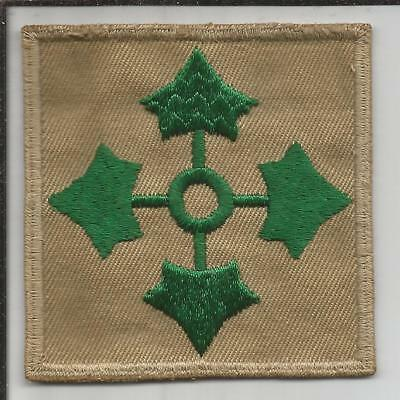 Oversized WW 2 US Army 4th Infantry Division Twill Patch Inv# B219