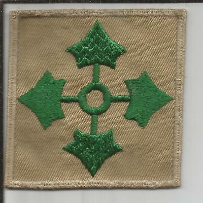 Oversized WW 2 US Army 4th Infantry Division Twill Patch Inv# B220