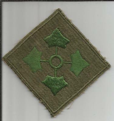 Oversized WW 2 US Army 4th Infantry Division Twill Patch Inv# B221