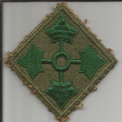 WW 2 US Army 4th Infantry Division Patch Inv# B209