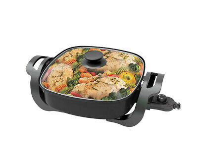 Todo 1500W Electric Frying Pan Skillet Multi Function Cooker Black Xj-12201