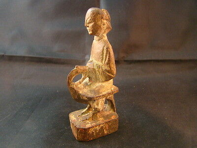 Chinese 19th century nice carved small wood figure  r341