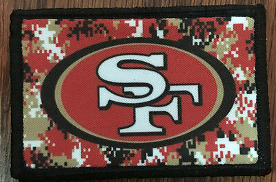 San Francisco 49ers Football Morale Patch Tactical Military Army Flag Badge Hook