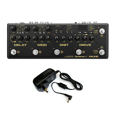 NuX Cerberus Integrated Multi Effects Pedal & Controller +Power Supply - New