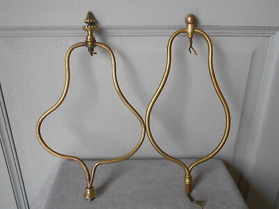 2 Antique French Brass Crowns For Ceiling Fixtures