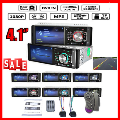 """4.1"""" HD Android 1DIN Autoradio Bluetooth Car Stereo MP5 Player FM AUX W/Remote"""