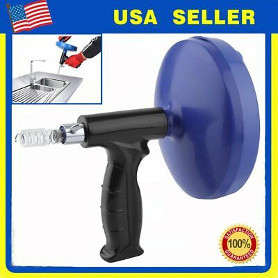 Drain Auger Cable Cleaner Spin Sink Sewer Pipe Clog Remover Plumbing Tool 25Ft S