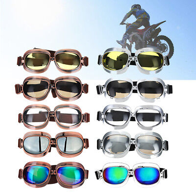 NEW Retro Vintage Motorcycle Motorcross Goggles Classic Pilot Glasses Sunglasses