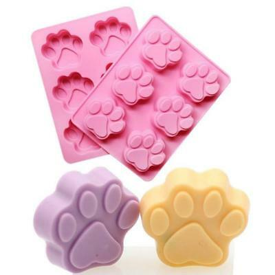 Animal Cat Dog Paw Print Silicone Chocolate Ice Mold Sugercraft Cake Topper Soap