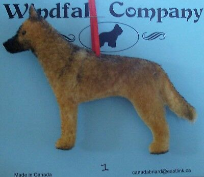 Belgian Malinois Dog Plush Christmas Canine Ornament #1 by WC