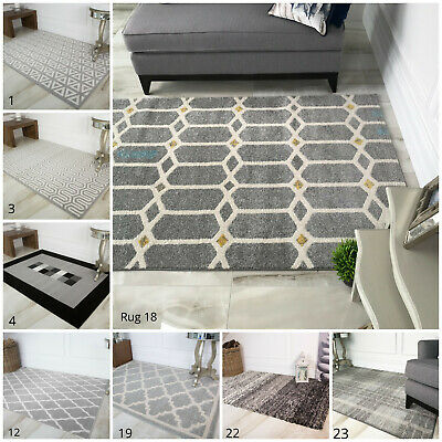 New Black Grey Silver Small Large Rugs Big Huge Size Floor Carpet Rug Mat Cheap