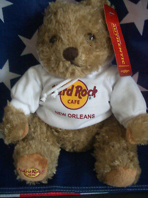 HRC Hard Rock Cafe New Orleans Sweater Hoodie Bear 2013 NWT