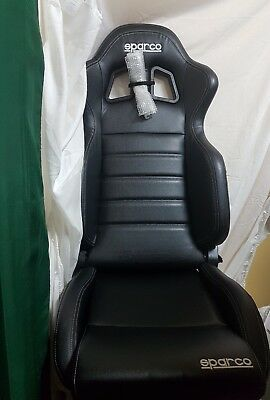 SPARCO R100  LIGHTWEIGHT/COMPACT  SEAT  BLACK FAUX LEATHER new