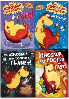 The Dinosaur That Pooped 4 Book Set Collection